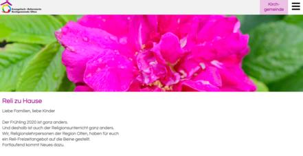 Reli zu Hause Homepage